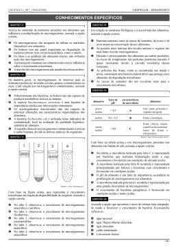 Caderno de questões - Tipo I - Cargo 67: Técnico