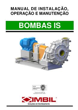 manual de instalação, operação e manutenção bombas is