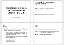 Manutenção Centrada em Confiabilidade (MCC) – Parte 2