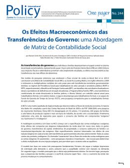 Os Efeitos Macroeconômicos das Transferências do Governo: uma