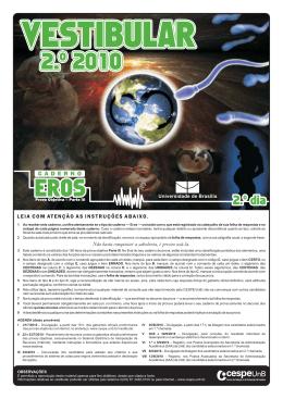 2o Dia - Caderno EROS - CESPE / UnB