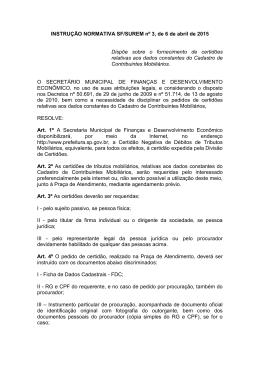 INSTRUÇÃO NORMATIVA SF/SUREM nº 3, de 6 de abril de 2015