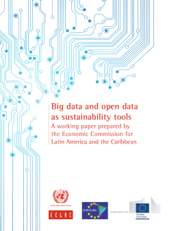 Big data and open data as sustainability tools