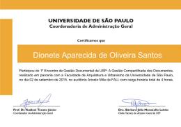 Dionete Aparecida de Oliveira Santos