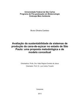 Avaliação da sustentabilidade de sistemas de produção