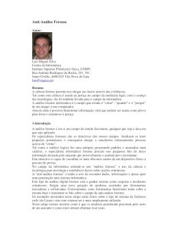 Anti-Análise Forense - lms.ispgaya|pt