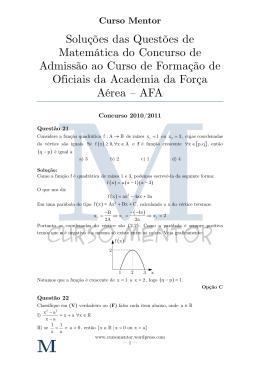 Matemática - AFA v1.3 - Curso Mentor