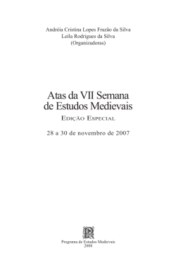 Atas da VII Semana de Estudos Medievais