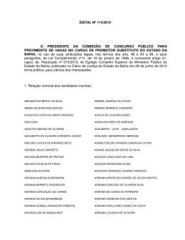 Inscrição Preliminar - Central de Concursos