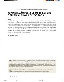 administração pública brasileira entre o gerencialismo e a