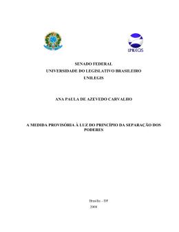 senado federal universidade do legislativo brasileiro unilegis ana