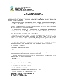 edital de convocação nº 23/2015 - Prefeitura Municipal de Cariacica