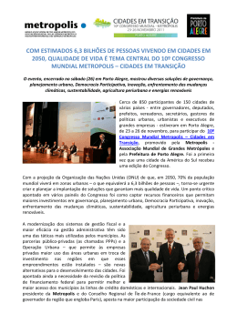 COM ESTIMADOS 6,3 BILHÕES DE PESSOAS VIVENDO EM