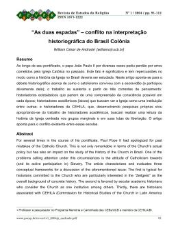 """""""As duas espadas"""" – conflito na interpretação - PUC-SP"""