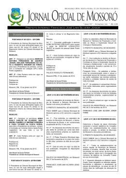 JOM - Prefeitura Municipal de Mossoró
