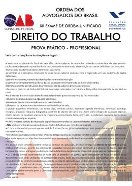 XII Exame Trabalho - SEGUNDA FASE