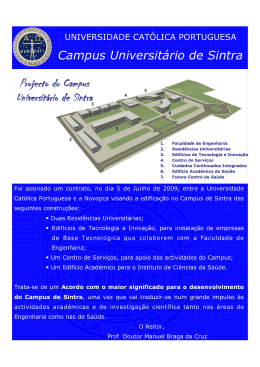 Projecto do Campus Universitário de Sintra