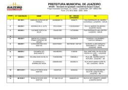 PREFEITURA MUNICIPAL DE JUAZEIRO