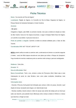 Ficha Técnica - Via Algarviana