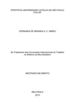 PONTIFÍCIA UNIVERSIDADE CATÓLICA DE SÃO PAULO PUC