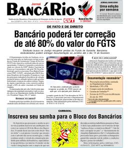 Bancário poderá ter correção de até 80% do valor do FGTS