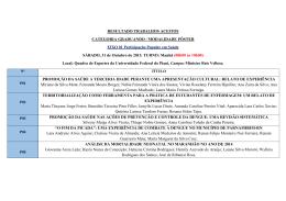 RESULTADO TRABALHOS ACEITOS CATEGORIA