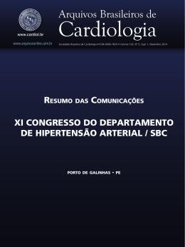 Xi ConGResso do dePaRTamenTo de HiPeRTensÃo aRTeRiaL / sBC
