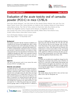Evaluation of the acute toxicity oral of carnauba powder (PCO
