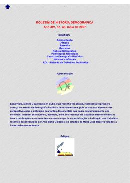 BHD 45 - Núcleo de Estudos em História Demográfica