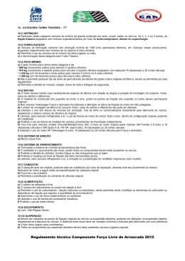Categoria Turbo Traseira - Federação Paranaense de Automobilismo