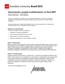 Gerenciando o projeto multidisciplinar no Revit MEP