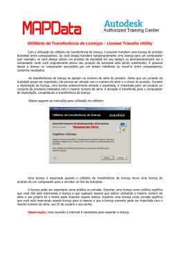 Utilitário de Transferência de Licenças - License