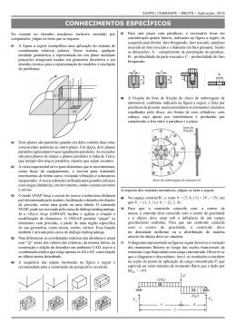 Engenheiro Mecânico - Conhecimentos Específicos