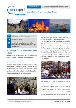 Machu Picchu, Cusco, Lima e Lago Titicaca Transmundi Operadora