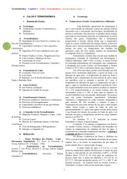 CALOR E TERMODINÂMICA - Centro de Estudos Espaço