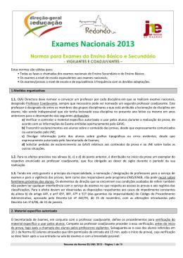 Exames Nacionais 2013 - Agrupamento de Escolas de Redondo