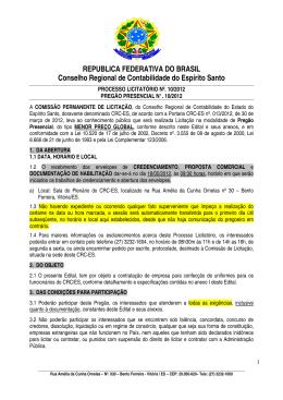 REPUBLICA FEDERATIVA DO BRASIL Conselho - CRC-ES
