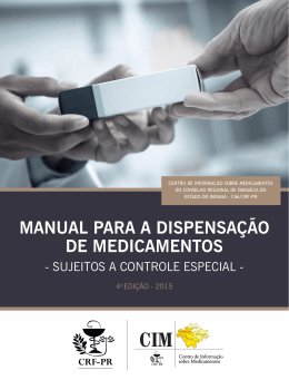MANUAL PARA A DISPENSAÇÃO DE MEDICAMENTOS - CRF-PR