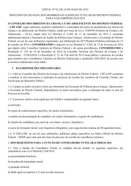 EDITAL Nº 02, DE 14 DE MAIO DE 2015. PROCESSO DE