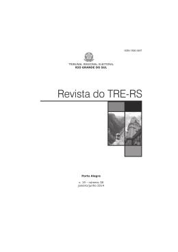 número 38 janeiro/junho 2014 - Tribunal Regional Eleitoral do Rio