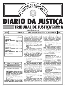 01 - Tribunal de Justiça de Rondônia
