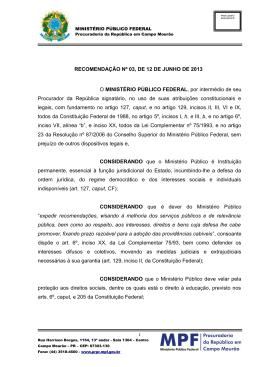 Veja aqui - Procuradoria da República no Estado do Paraná