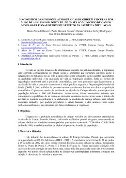 Diagnóstico das Emissões Atmosféricas de Origem