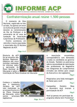 INFORME ACP - Associação Catarinense de Professores