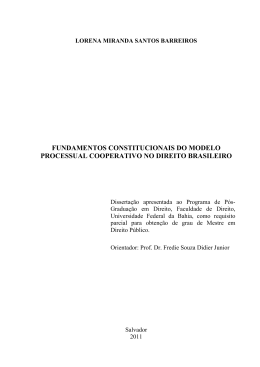 fundamentos constitucionais do modelo processual