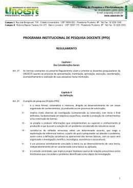 Regulamento do PPD