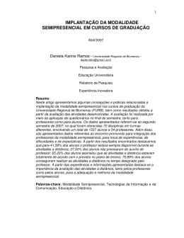 implantação da modalidade semipresencial em cursos de