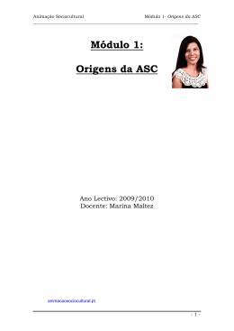 Módulo 1: Origens da ASC