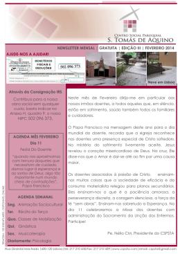 Newsletter Janeiro 2014