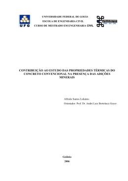 contribuição ao estudo das propriedades térmicas do concreto